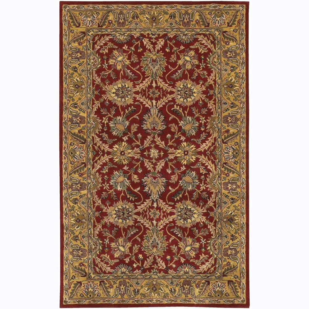Hand-Tufted Oriental Mandara New Zealand Wool Area Rug (7'9 x 10'6)