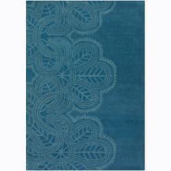 Artist's Loom Hand-tufted Contemporary Geometric Wool Rug - 5'x7'6 - Thumbnail 0