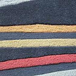 Hand-tufted Caulfield Black Stripes Rug (7'9 x 9'9)