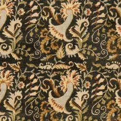 Safavieh Handmade Floral Bells Charcoal Grey Hand-spun Wool Rug (9' x 12')