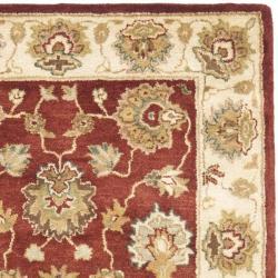 Safavieh Handmade Oushak Rust/ Ivory Hand-spun Wool Rug (3' x 5') - Thumbnail 1