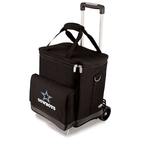Picnic Time Black Dallas Cowboys Cellar with Trolley