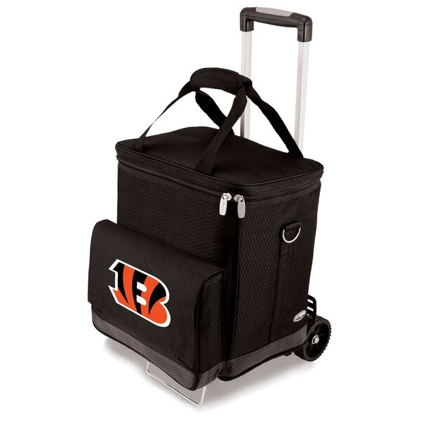 Picnic Time Black Cincinnati Bengals Cellar with Trolley