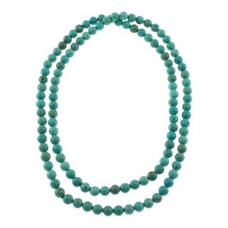 Pearlz Ocean Turquoise Howlite Endless Necklace Jewelry for Womens