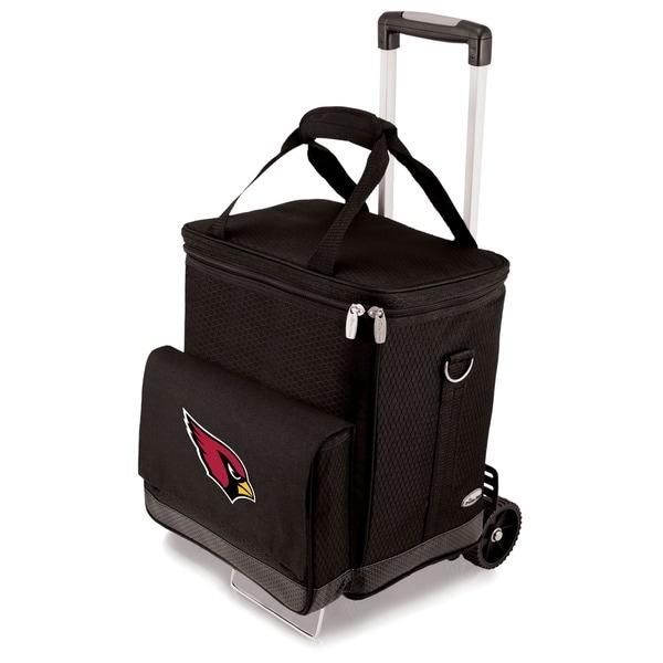Picnic Time Arizona Cardinals Cellar & Trolley - Black
