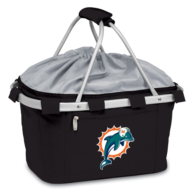 Picnic Time Miami Dolphins Black Metro Basket