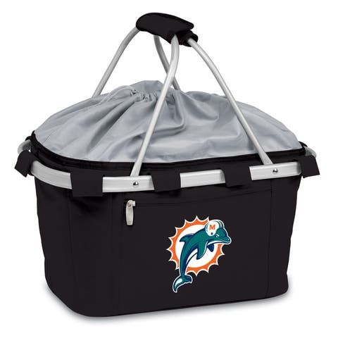 Picnic Time Miami Dolphins Black Metro Basket