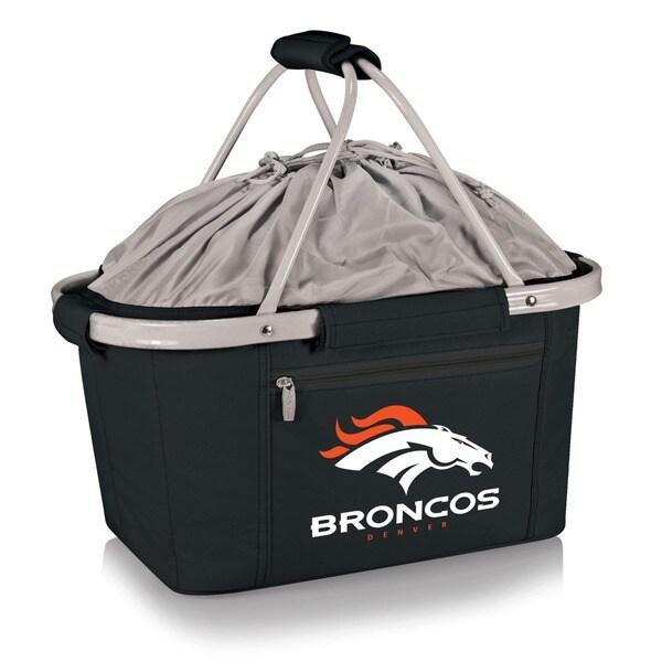 Picnic Time Denver Broncos Metro Aluminum-Frame Basket