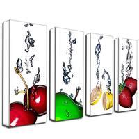 Roderick Stevens 'Splash II' 4-piece Gallery-wrapped Canvas Panel Art Set