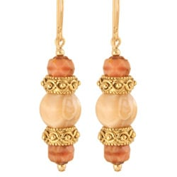 'Delicia' 14k Yellow Gold Fill Mother of Pearl Earrings