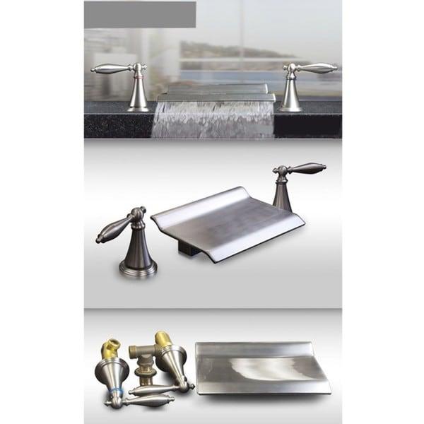 Shop Kokols Brushed Nickel Roman Waterfall Bath Tub Faucet Free Shipping Today Overstock