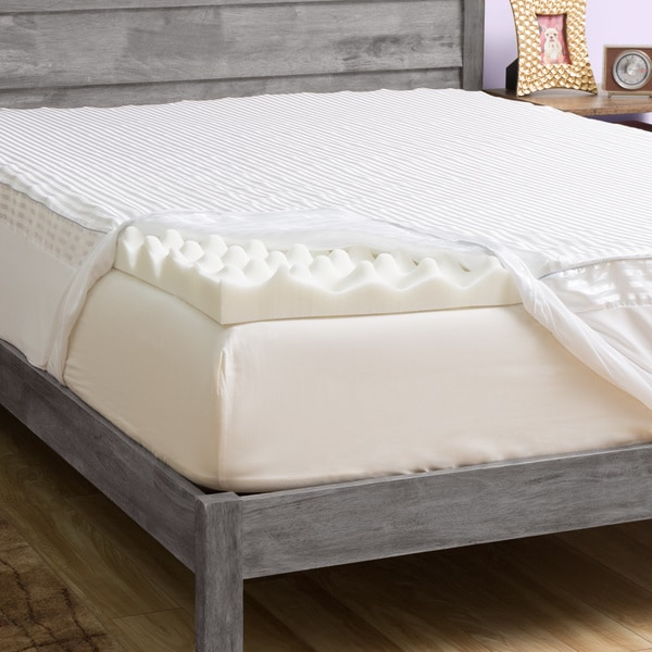 slumber solutions big comfort 3inch memory foam mattress topper with cover free shipping today