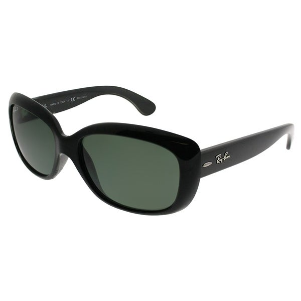 032fb3b6a5 Shop Ray Ban Women s  Jackie Ohh  Black Polarized Sunglasses - Free ...