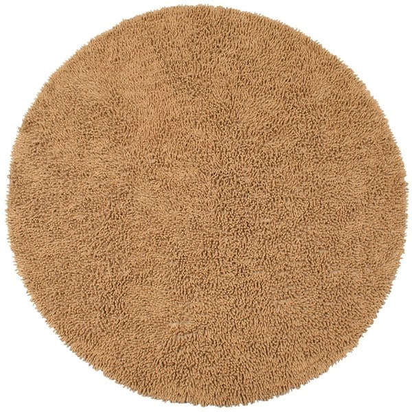 Hand Woven Adelic Tan Chenille Rug 5 X27 Round