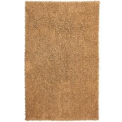 Hand-woven Shagadelic Tan Chenille Rug (2'6 x 4'2)