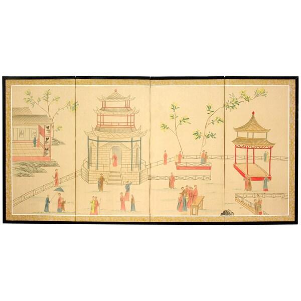 Enter the Pagoda Silkscreen (China)