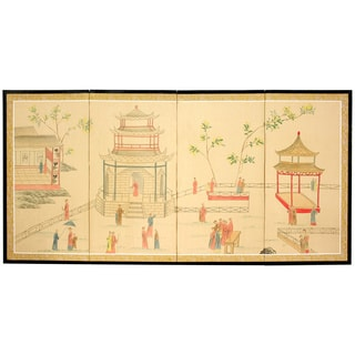 Handmade Enter the Pagoda Silkscreen (China)