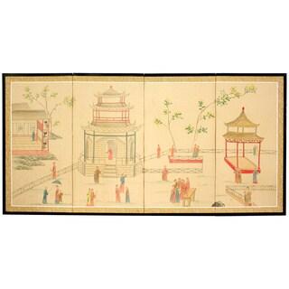 Handmade Enter the Pagoda Silkscreen (China)