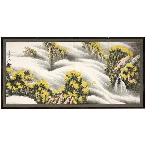 Handmade Silk 'Waterfall of Dreams' Screen (China)