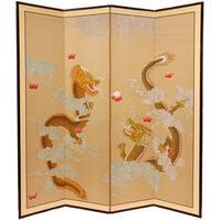 Handmade Large Dragons Playing Silkscreen (China)