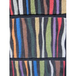 Hand-tufted Caulfield Black Multi Rug (5' x 7'6) - Thumbnail 1