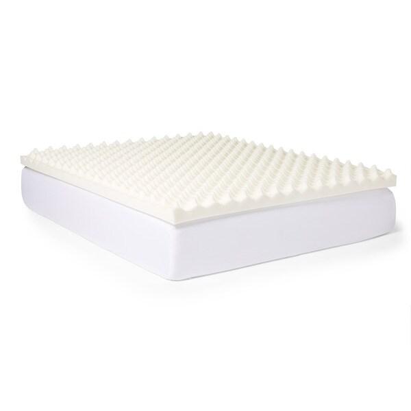 slumber solutions big bump 4inch memory foam mattress topper free shipping today