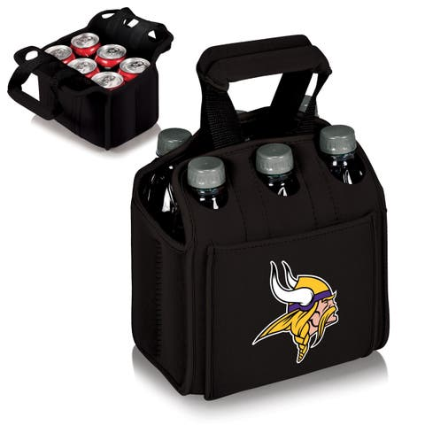Picnic Time Minnesota Vikings Six Pack - Black