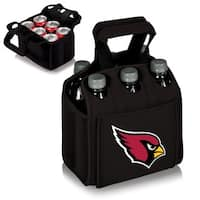 Picnic Time Arizona Cardinals Six Pack Bottle Holder - Black