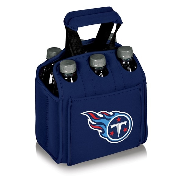 Picnic Time Tennessee Titans Six Pack Case - navy