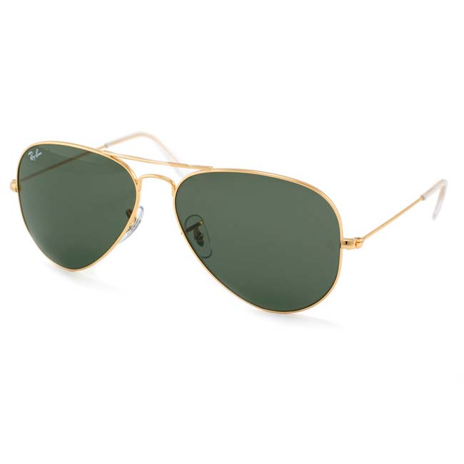 ray ban aviator black gold frame