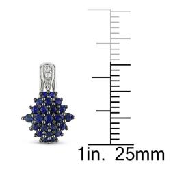 Miadora 10k White Gold Blue Sapphire and Diamond Accent Earrings