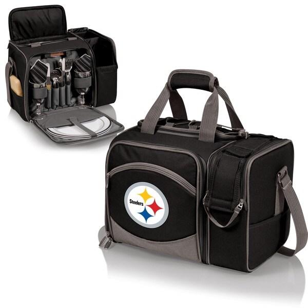 Picnic Time Malibu Black Pittsburgh Steelers