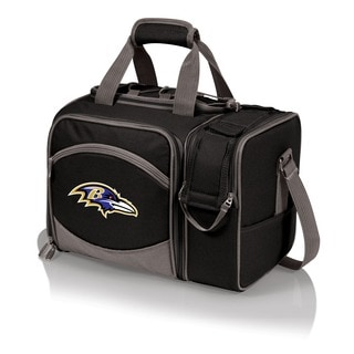 Picnic Time Malibu Black Baltimore Ravens