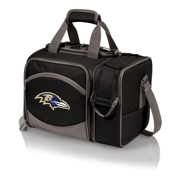 Picnic Time Malibu Black Baltimore Ravens