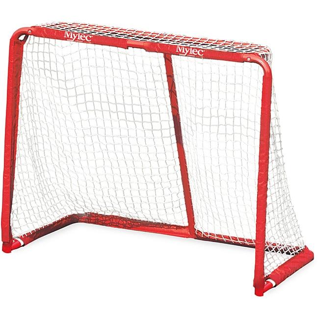 Mylec Pro Style Jr. Bright Red Heavy-gauge Steel Hockey Goal with Net