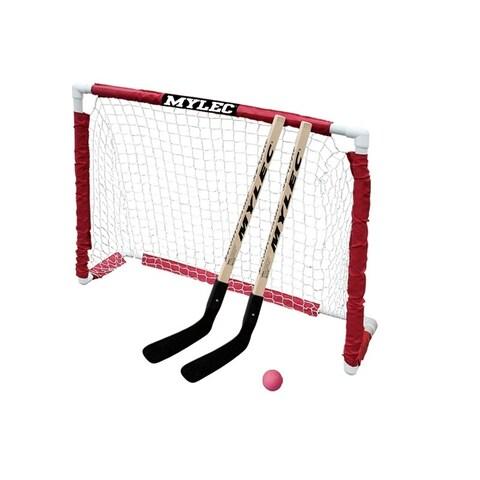 Mylec All-purpose PVC Junior Folding Goal Set with Nylon Netting - Clear/Gold