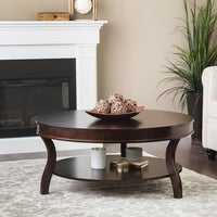 KD Furnishings Chocolate Cherry Wood Round Condo Apartment Coffee ...