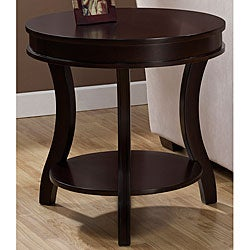 Winsome Wood Toby End Table Espresso Round