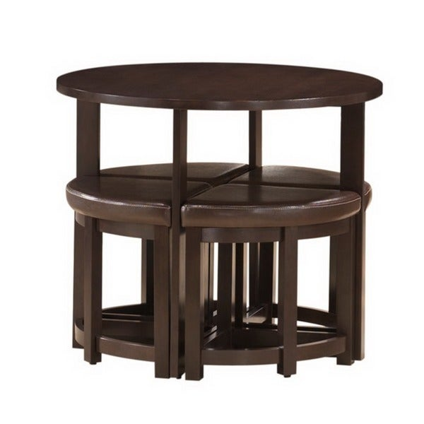 Baxton Studio Rochester Brown Modern Bar Table Set With Nesting Stools    Free Shipping Today   Overstock.com   13847826