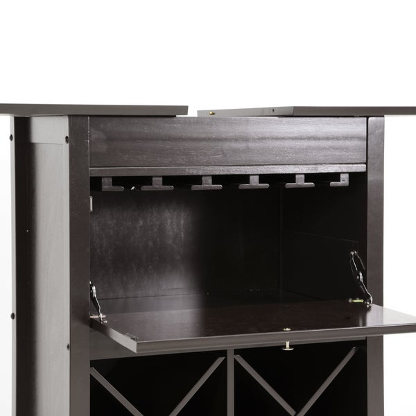 Contemporary Dark Brown Wine Cabinet by Baxton Studio - Free ...
