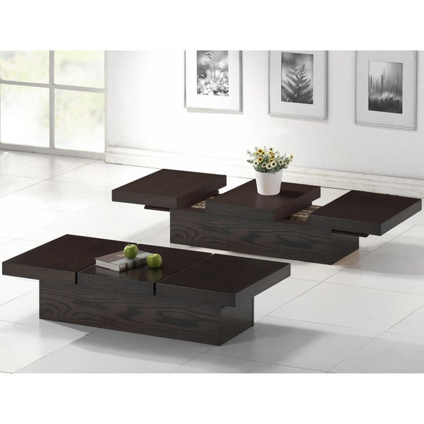 Modern Wood Coffee Table: Baxton Studio Cambridge Dark Brown Contemporary Coffee