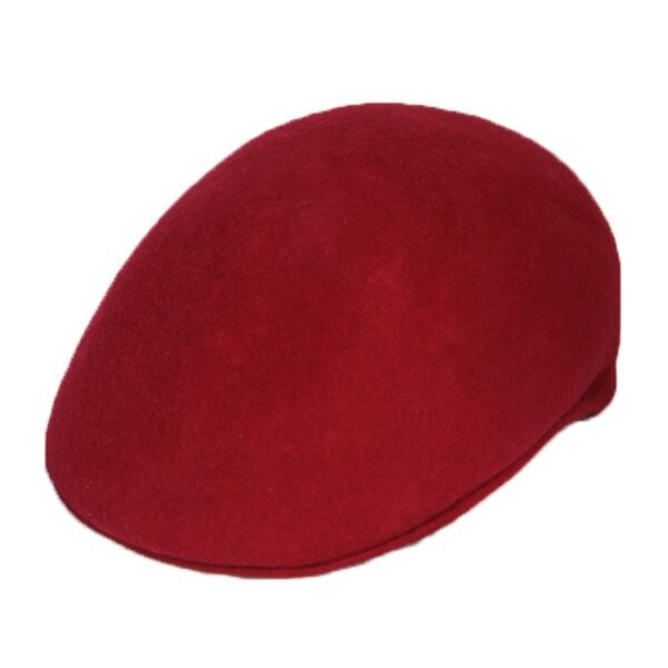 Ferrecci Men's Maroon Wool Cap