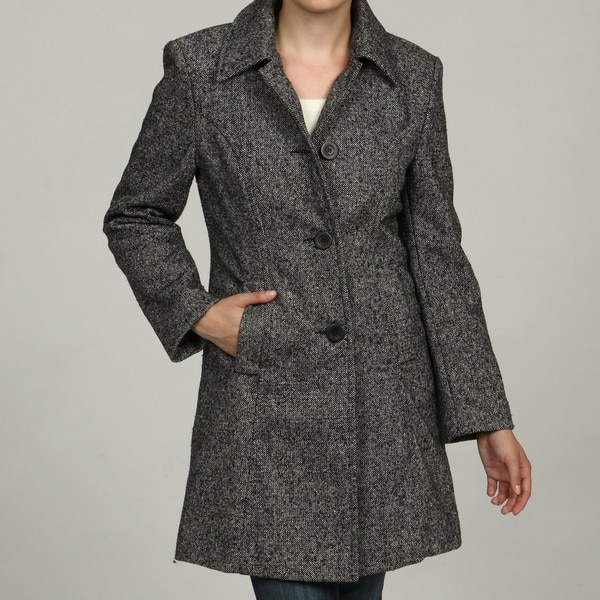 Trendz Women's Tweed Coat