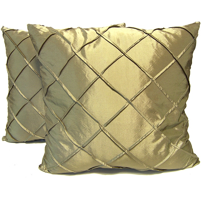 Dior Sage Stitched Diamond Decorative Pillows (Set of 2)