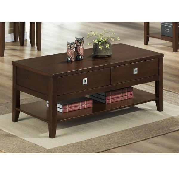 New Jersey Brown Wood Modern Coffee Table