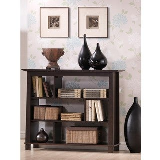 Havana Brown Wood Modern Bookcase
