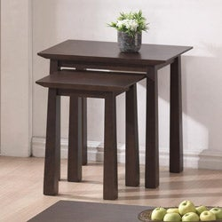 Havana Brown Wood Modern Nesting Table Set