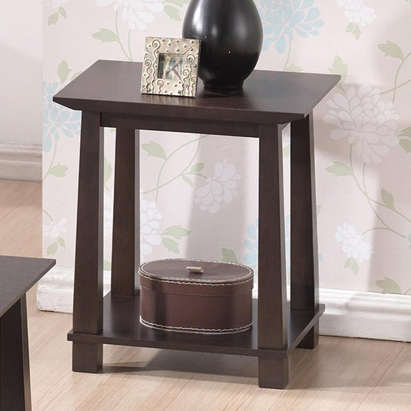 Shop Havana Brown Wood Modern End Table Free Shipping