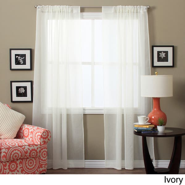 63 Inch Sheer Curtain Panel Pair