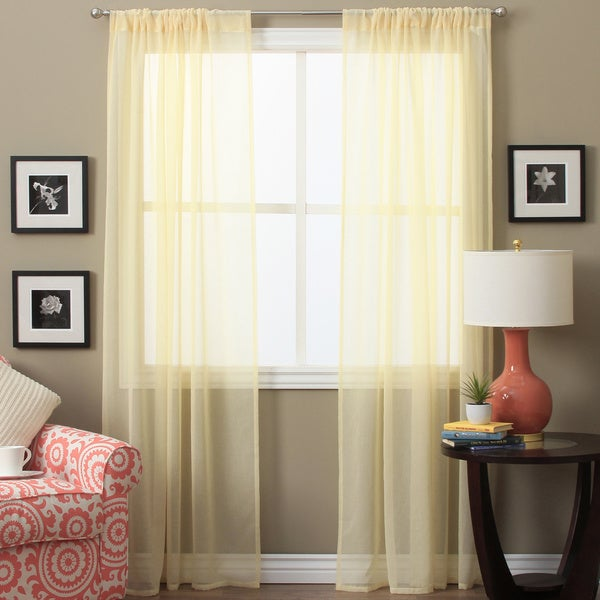 Shop Lucerne 63-inch Sheer Curtain Panel Pair